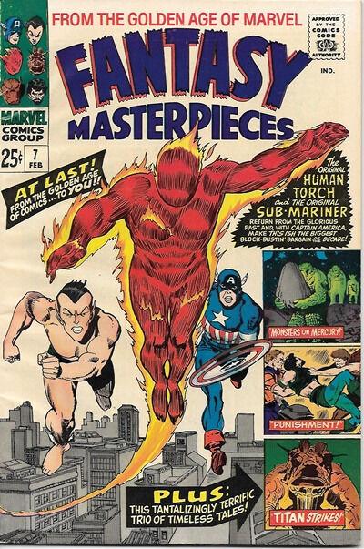 Fantasy Masterpieces Comic Book #7, Marvel Comics 1967 VERY FINE-
