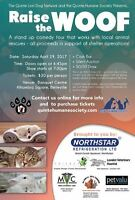 Raise the Woof Comedy Show to benefit Quinte Humane Society