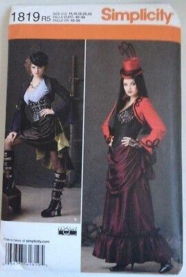 Plus Size Gothic Steampunk Skirt Pattern Simplicity #1819 Halloween 14-22 Cosply](Steampunk Halloween Costumes Plus Size)