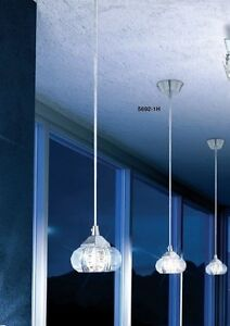 1 x 33 W pendant light crystal clear hanging lamp Design ceiling lamp NEW 34472