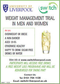 Weight Management Trial with free drinks, free weight loss programme & be reimbursed for taking part