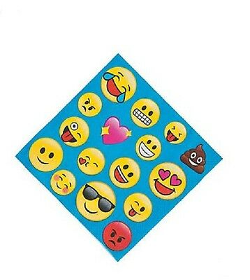 16 Emoji Dinner Lunch Napkins Birthday Party Characters Poop Hearts Tongue Smile
