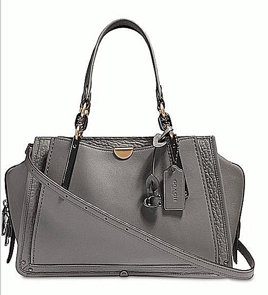 Coach Dreamer Mixed Leather Heather Grey Crossbody Satchel Bag