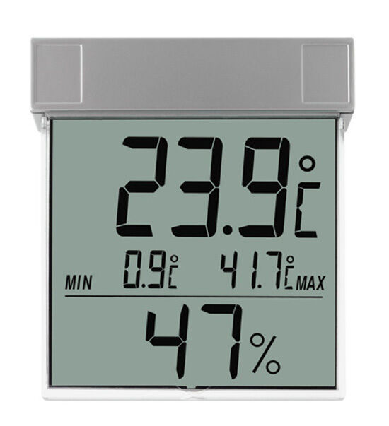 WINDOW THERMOMETER WITH HYGROMETER TFA 30.5020 VISION GARDEN THERMOMETER MIN-MAX