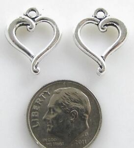 TierraCast Pewter Charms-SILVER OPEN JUBILEE HEART (2)