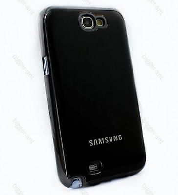Black Super Luxury Metal Drawing Back Case For Samsung Galaxy Note 2 N7100 on Rummage