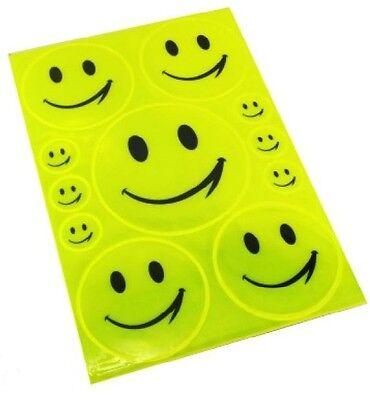 11 reflektierende Aufkleber Smiley Smile Kinder Schule Helm Kindergarten Sticker