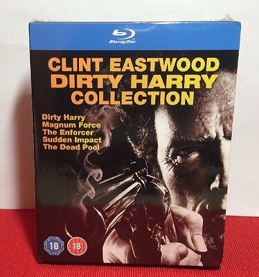 Clint Eastwood Dirty Harry Collection Blu Ray Disc 2013 5 Disc Set New Free S H