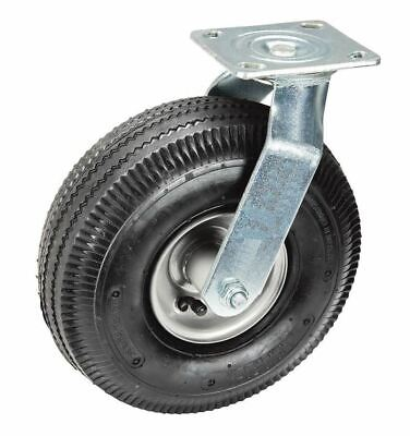 10 In. Pneumatic Durable Heavy-duty Swivel Caster Tire 300 Lb Capacity 4-pack