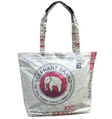 Elephant Brand Deluxe Beach Tote Bag made from Cement Bags in Cambodia Deluxe Beach Tote Bag