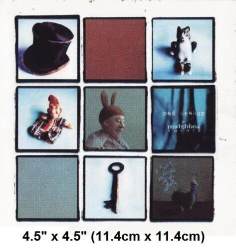 "Vintage 2001 Matchbox 20 Mad Season Waterproof Vinyl Bumper Sticker 4.5"" x 4.5"""