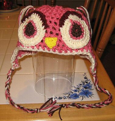 Разное Crocheted Adult Owl Beanie, Handmade