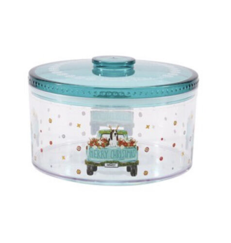 2 The Pioneer Woman Truck Charlie Howdy Merry Christmas Plastic Treat Container - $24.95