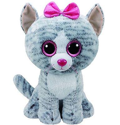 """TY Beanie Boos KIKI - grey cat large Plush 16"""""""