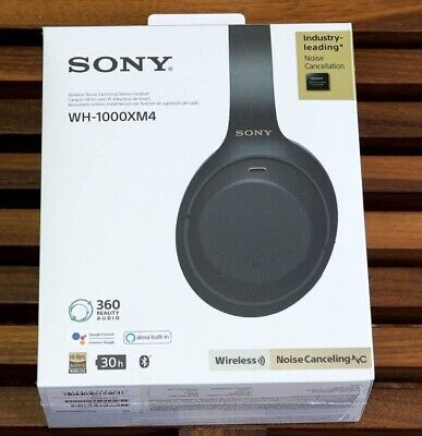 NIB Sony WH-1000XM4 Over-ear Bluetooth wireless noise-canceling headphones (B)
