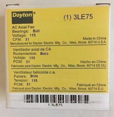 Dayton 3le75 Ac Axial Fan 115vac