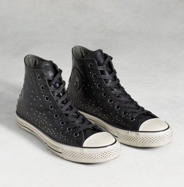 Converse By John Varvatos Mini Studded Hi Men Shoes Leather Black 151295C New