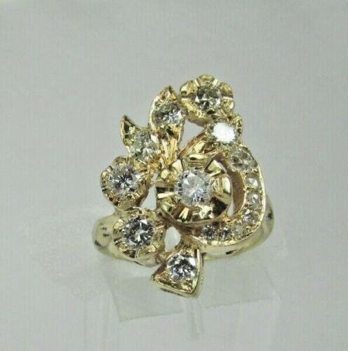 Estate 14K YG 1.21 CTW Diamond Vintage Ring 5.0 Grams Size 5