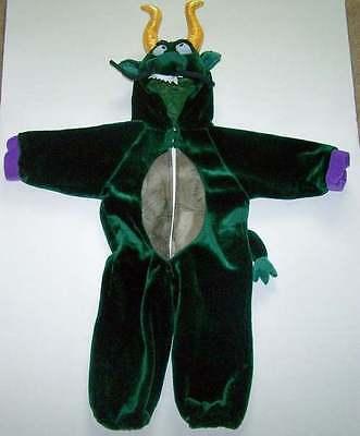 Childs Plush Furry Dragon Costume Sz 3 - 4 (Green Furry Costume)
