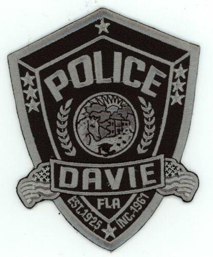 DAVIE POLICE FLORIDA FL POLICE NICE PATCH SUBDUED SWAT SHERIFF