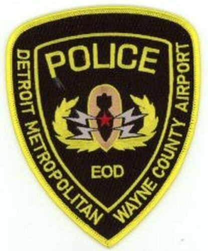 MICHIGAN MI DETROIT WAYNE COUNTY AIRPORT POLICE NEW PATCH SHERIFF