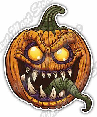 Evil Pumpkin Halloween Night Gift Idea Car Bumper Vinyl Sticker Decal 4