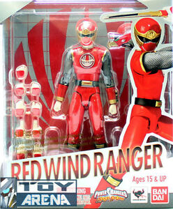 S.H. Figuarts Red Wind Ranger Power Ranger Ninja Storm Action Figure Bandai