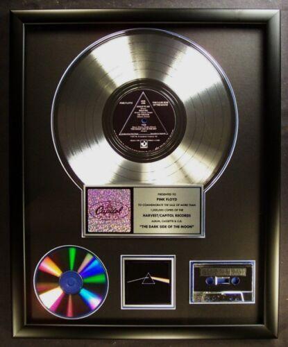 Pink Floyd The Dark Side Of Moon LP, Cassette, CD Platinum Non RIAA Record Award