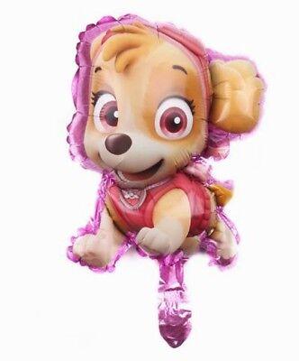 5 PAW PATROL FOIL Balloons SKYE Puppy Happy BIRTHDAY GIRL Decoration Helium baby
