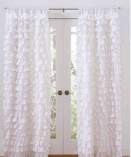 Set-of-2-Shabby-French-Chic-White-Petticoat-Ruffle-Tiered-Curtains-Drape-Panels