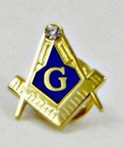Square and Compass Master Mason Lapel Pin Masonic - Large