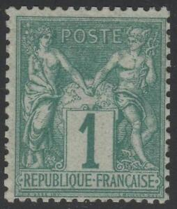 "FRANCE STAMP TIMBRE N° 61 "" TYPE SAGE 1c VERT "" NEUF xx A VOIR"