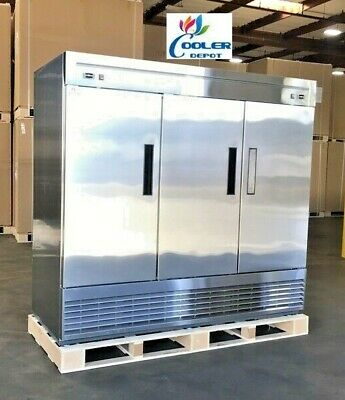 Commercial Refrigerator Freezer Combo 3 Door Rf83 - Stainless Steel Fridge Nsf