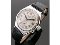 LOST SILVER ROLEX OYSTER (made in 1924) WITH OCTAGONAL CASE