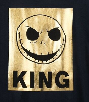 Men's Disney Jack Skellington Nightmare Before Xmas Metallic Halloween T-Shirt (Jack Disney Halloween)