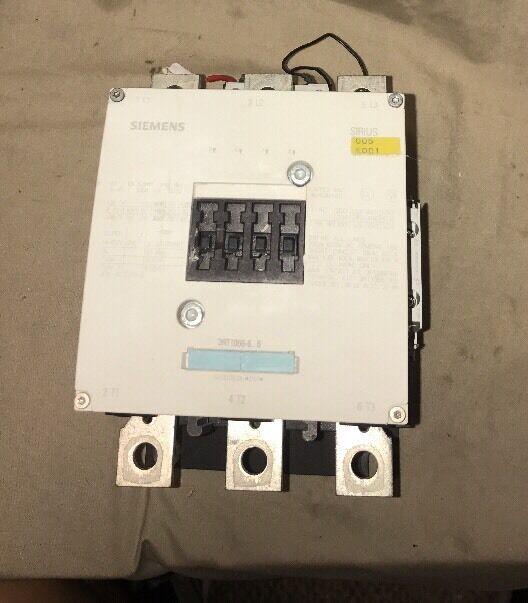 Seimens Contactor Circuit Breaker 3RT1066-6