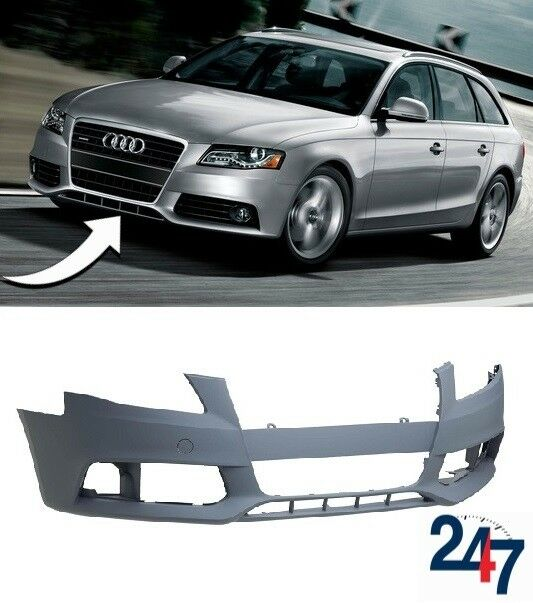 Front Bumper Primed With Pdc Holes Audi A4 2008-2011 High Quality New