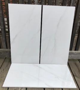 "Carrara Mare White Polished 12"" x 24"" - Porcelain Tiles"