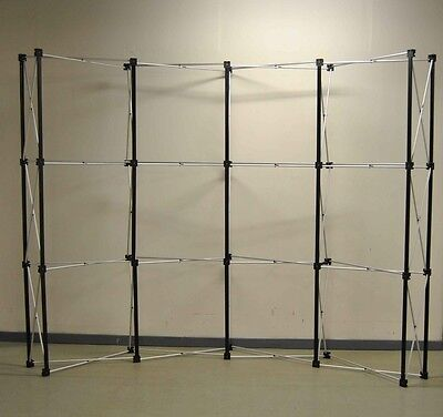 10' FT Pop Up Popup Display Booth Frame With Channel Bars Curved / Straight NEW  on Rummage