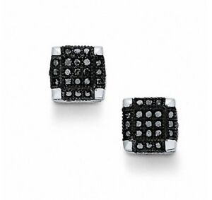 Black Diamond Earrings - EXCELLENT CONDITION