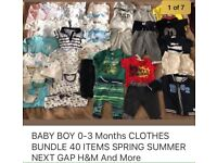 BABY BOYS CLOTHES BUNDLE 0-3 Months SPRING SUMMER