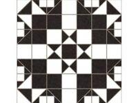 Floor tiles black white pattern