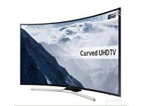 """55"""" Curved SAMSUNG Smart 4K Ultra HD HDR LED TV UE55KU6100 warranty and delivered"""
