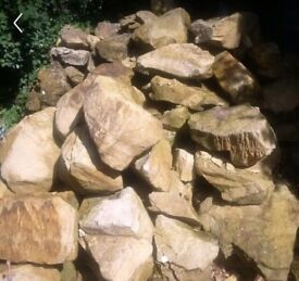 Garden sandstone rocks