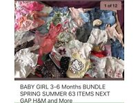 BABY GIRS CLOTHES BUNDLE LOTS 3-6 Months Very Good Condition SPRING SUMMER