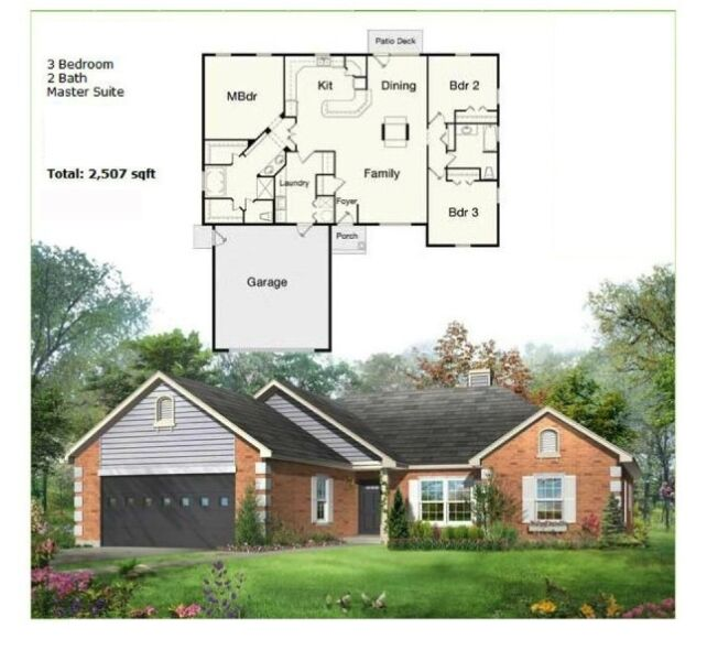 Prefab ns5757 3br modular steel frame home with garage for Prefab garage ontario