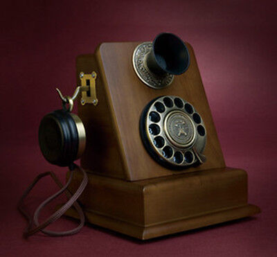 Turntable antique telephones Vintage antique phones Wood rotary Corded phone