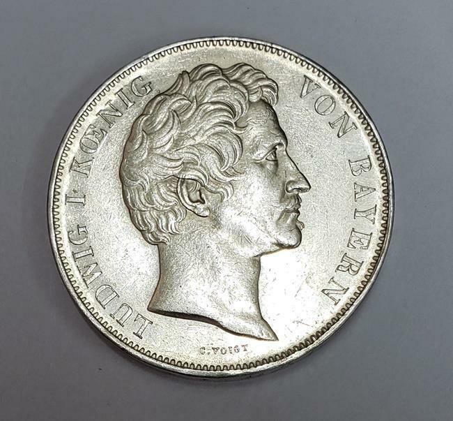 2 Thaler 1842 German States Bavaria Wedding of King Maximillian Ag XF