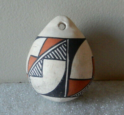 Acoma Polychrome Pottery Ornament 1 3/4