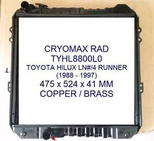 RADIATOR - TOYOTA 4 RUNNER LN130R /HILUX 106/107/111 (*****1997) Bayswater Knox Area Preview